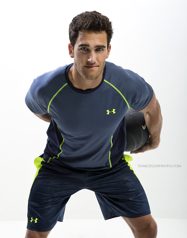 Rocky Russo modelling underarmor basketball clothing.